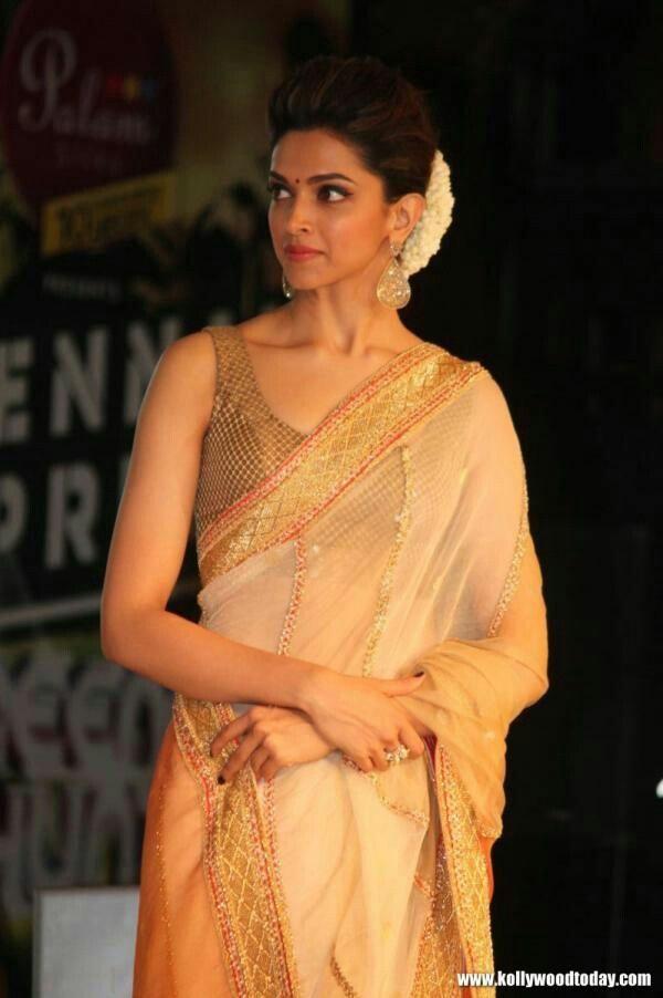 Traditional Look Deepika Padukone Saree Deepika Padukone Style Bollywood Saree