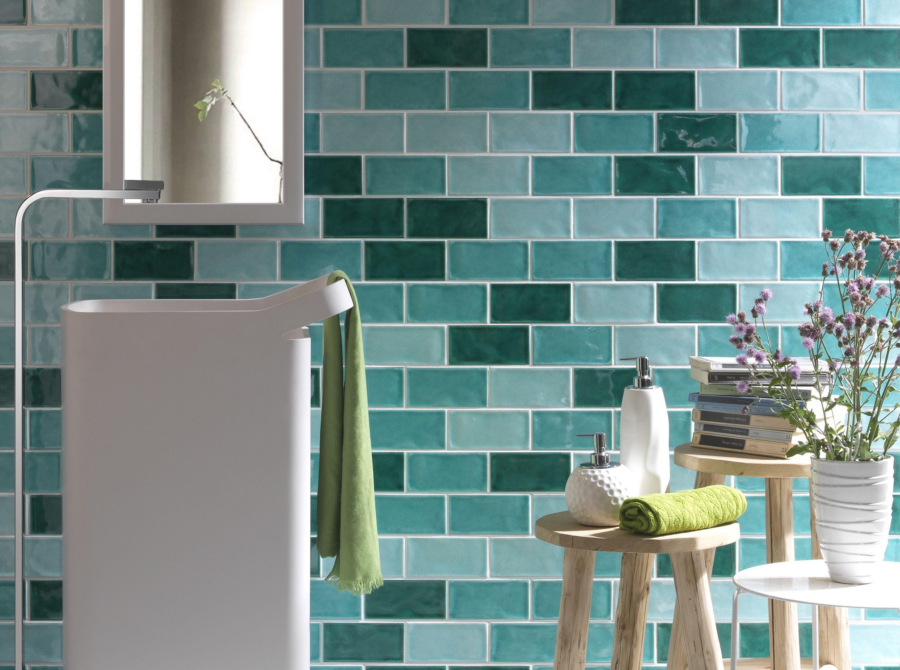 Crackled-look range, size 100x300mm. Dry-pressed ceramic tiles for ...