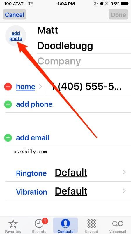 How to Assign a Photo to iPhone Contact in iOS
