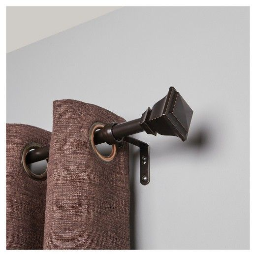 The Loft By Umbra Soft Square Curtain Rod Set Includes A 3