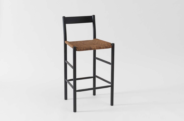 Magnificent Brian Persico Ebonized Oak Counter Chair Dume Farm In 2019 Ibusinesslaw Wood Chair Design Ideas Ibusinesslaworg