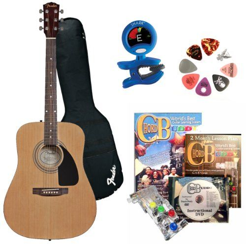 Fender Beginner Acoustic Guitar Chordbuddy Learning System Snark Guitar Tuner Assorted Guitar Picks To View Further For Guitar Tuners Guitar Acoustic Guitar