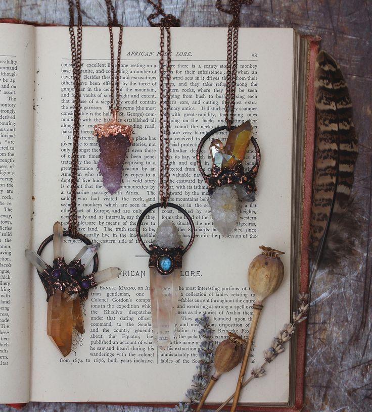 Handmade raw crystal jewellery by edenandafter