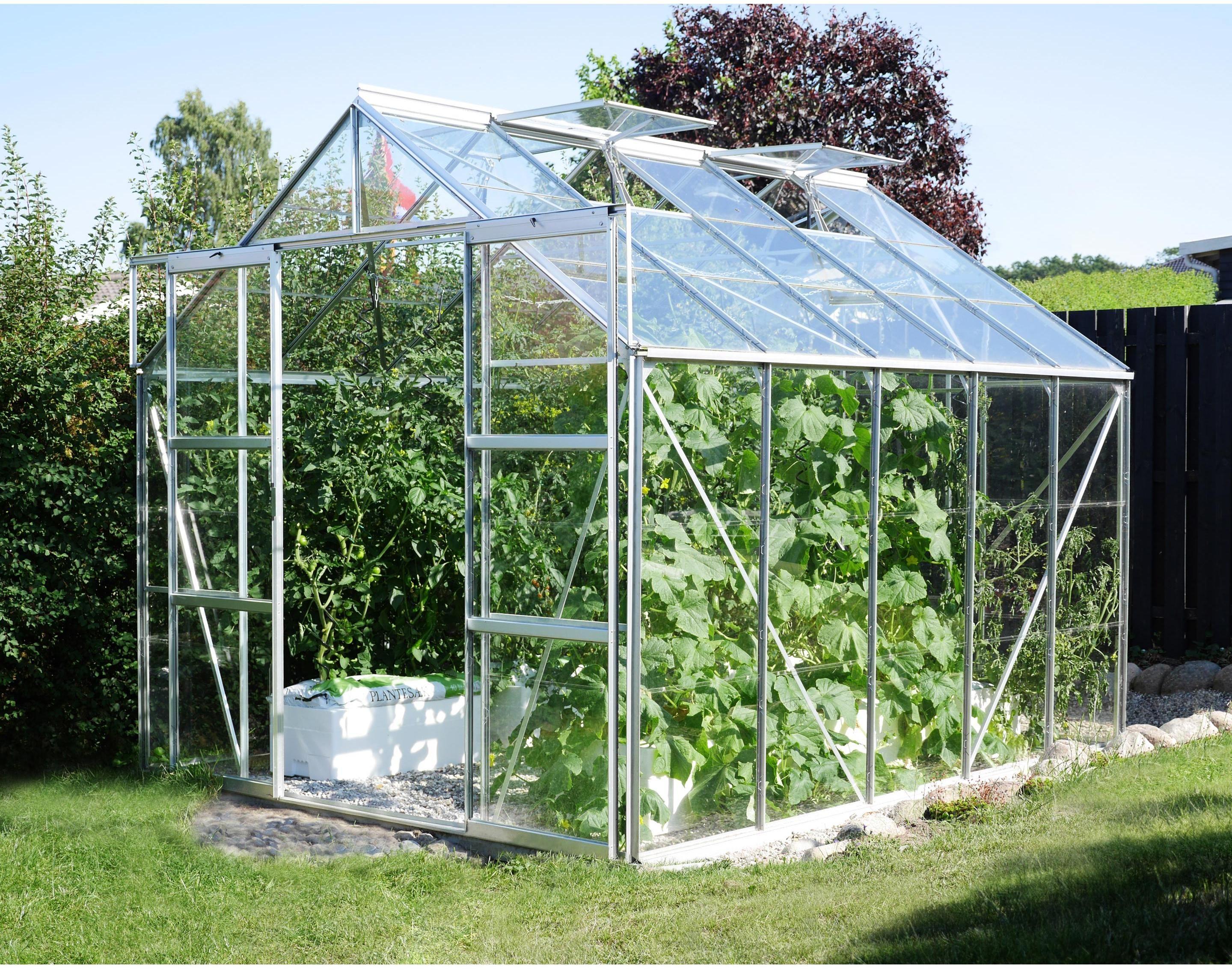 Serre De Jardin En Verre Trempe 3 Mm Lams Laurus Uranus 8300 Alu 8 25 M Lams En 2020 Serre Jardin Maison Verte Et Jardins