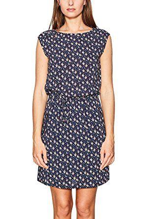 Esprit Damen Kleid 047ee1e027 Mehrfarbig Navy 400 36 Damen Kleid Fruhling Sommer Glitzer Cocktailkleider Kleider Damen Damenkleider Maxi Kleider