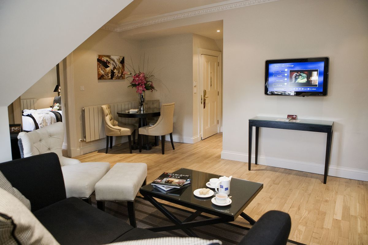 Living Room Fraser Suites Serviced Apartments Edinburgh
