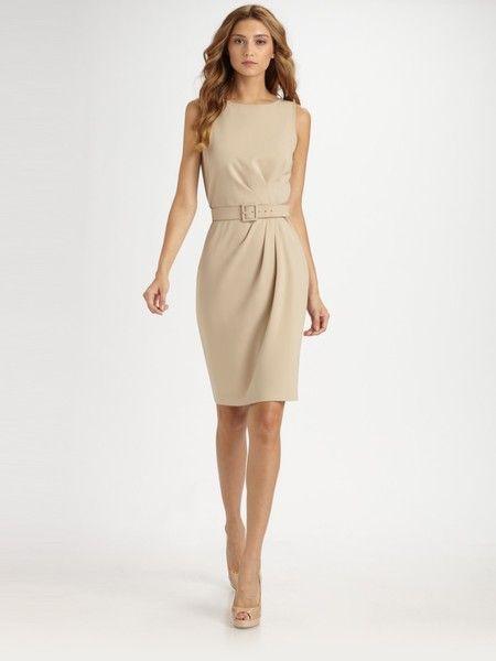 175f248587 Women's Natural Crepe Marocain Dress | Sewing | Dresses, Fashion ...