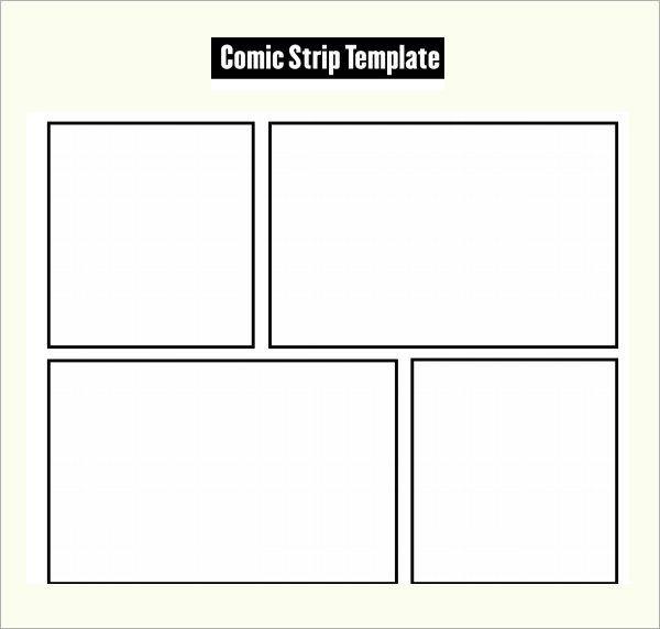 Comic Strip Template Comic Strip Template With Speech Bubbles for