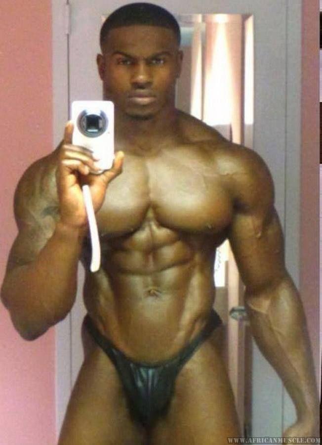 Gay black bodybuilder