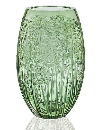 Lalique Crystal Bucolique Crystal Vase Green Glass Pinterest