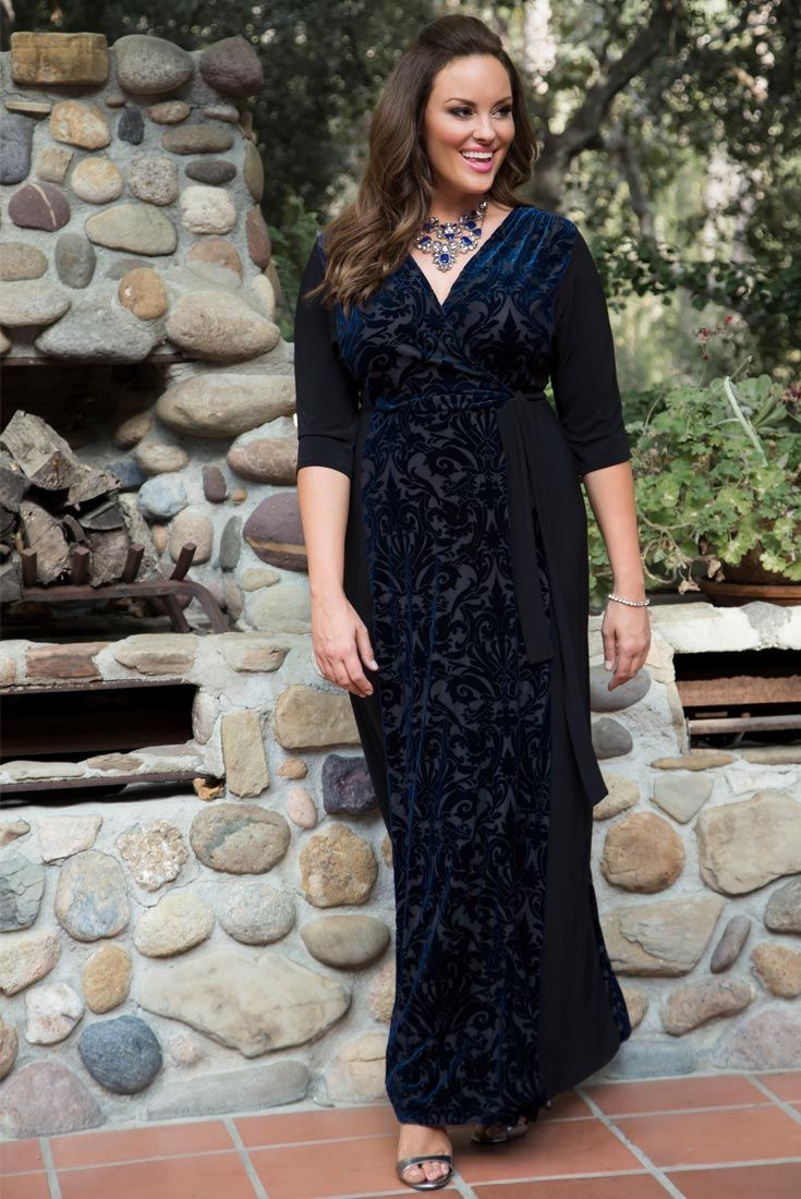 10e6c66ac2d Our plus size Ornate Velvet Maxi Dress is an easy and stylish option for  the holidays. Shop our entire made in the USA collection