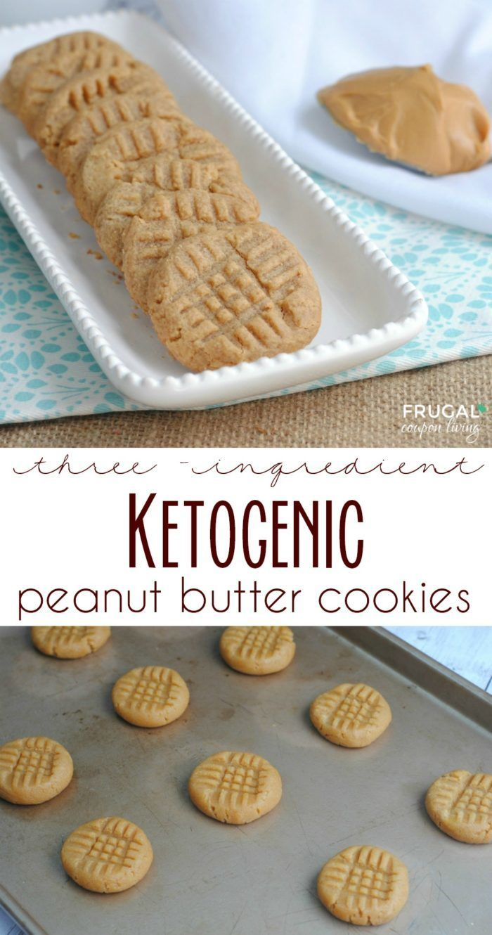 Low Carb Keto Peanut Butter Cookies #dessertrecipes