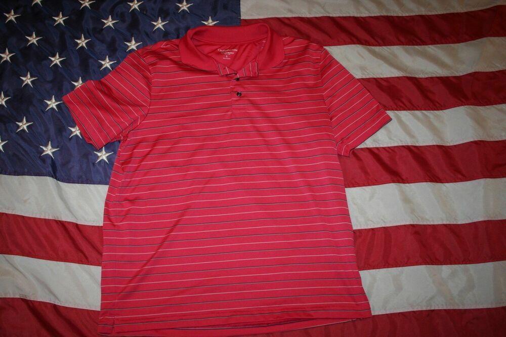 Men Croft Barrow Athletic Pink Polo Shirt Size Large Athleti