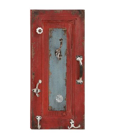 Red Distressed Wall Hook by UMA