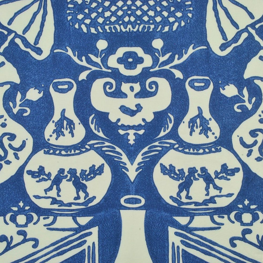 Clarence House 50021 Vase Chintz Blue Woven Fabric