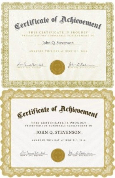 Free Vector Misc Beautiful Certificate Template  Need To Print
