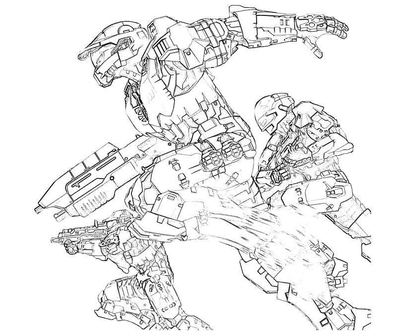Halo Coloring Pages Free