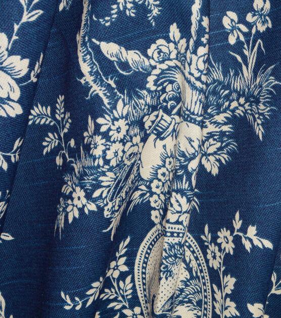 Ophelia blue 100 /% silk teal floral design curtain fabric
