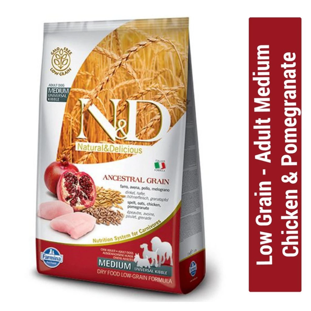 Farmina N D Low Grain Chicken Pomegranate Adult Medium Dog Food