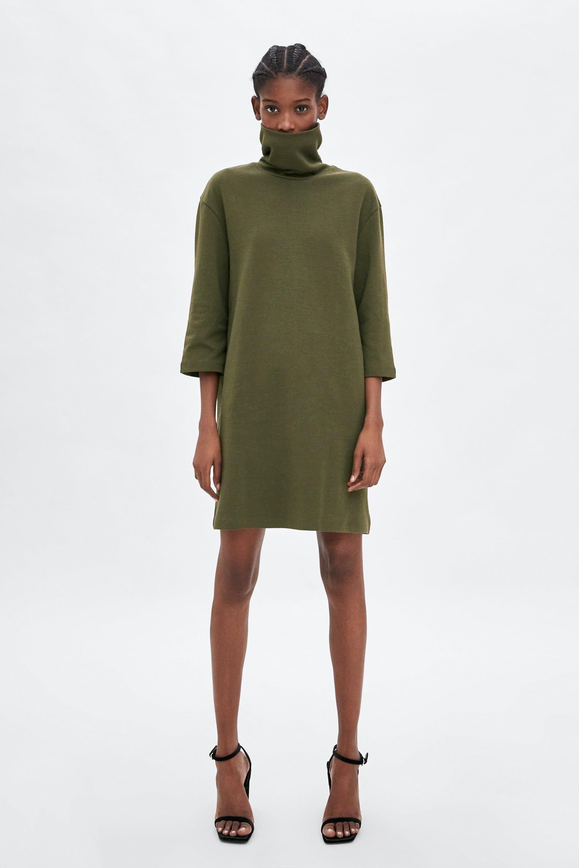 zara - woman - plush dress | kleider damen, kleid mit