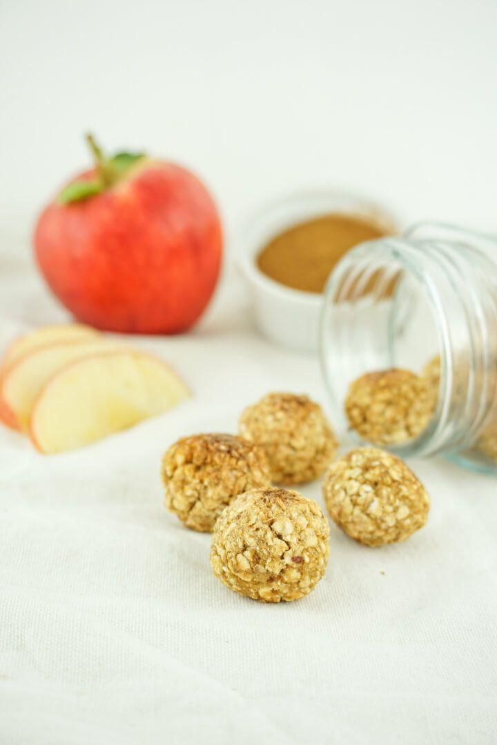 Apfel Zimt Energiebällchen – Gesunder und zuckerfreier Snack
