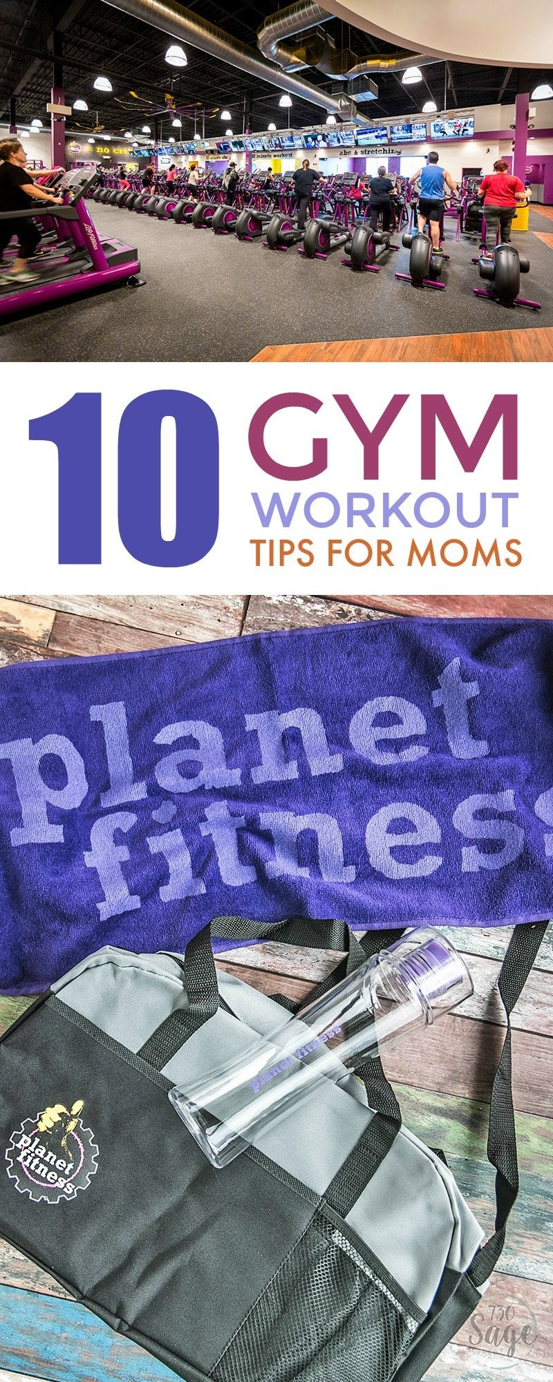 The gym doesn't have to be a scary place! 10 Gym Workout Tips for Moms. Join for $5 down & $10/mo with Planet Fitness Membership Specials w/o commitments. AD #Judgementfreezone #Planetfitness https://www.730sagestreet.com/planet-fitness-membership-specials/