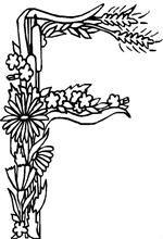Coloring Page Alphabet Flowers Alphabet Alphabet Coloring Pages