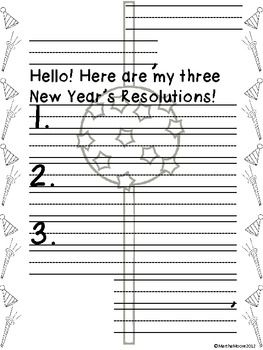 What a better way to talk about the new year than to let your what a better way to talk about the new year than to let your students make their own new years resolution or goal student will practice thei spiritdancerdesigns Choice Image