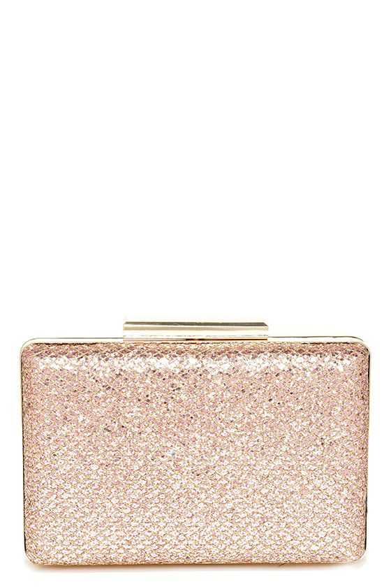 8361caa23c Can't Miss Me Gold and Pink Glitter Clutch | bags & wallets | Rose ...