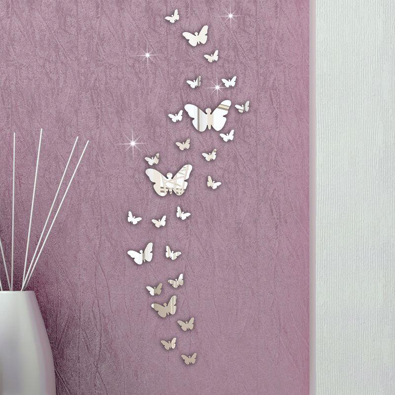 Puscard Dekorasi Rumah PC Kupu Kupu Kombinasi Stiker Dinding - Butterfly wall decals 3daliexpresscombuy d butterfly wall decor wall sticker