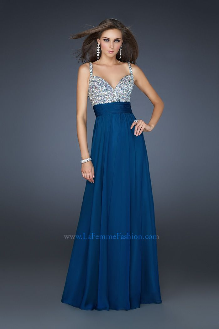 Vestidos de noche azul rey con plata