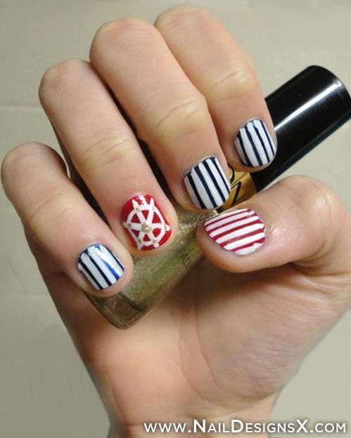 nautical nail art | Mix Nail Designs & Nail Art | Pinterest ...