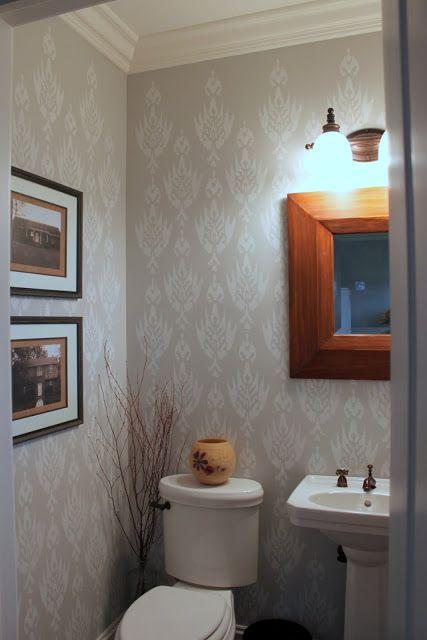Oak Ridge Revival stenciled walls/wall color bath Pinterest