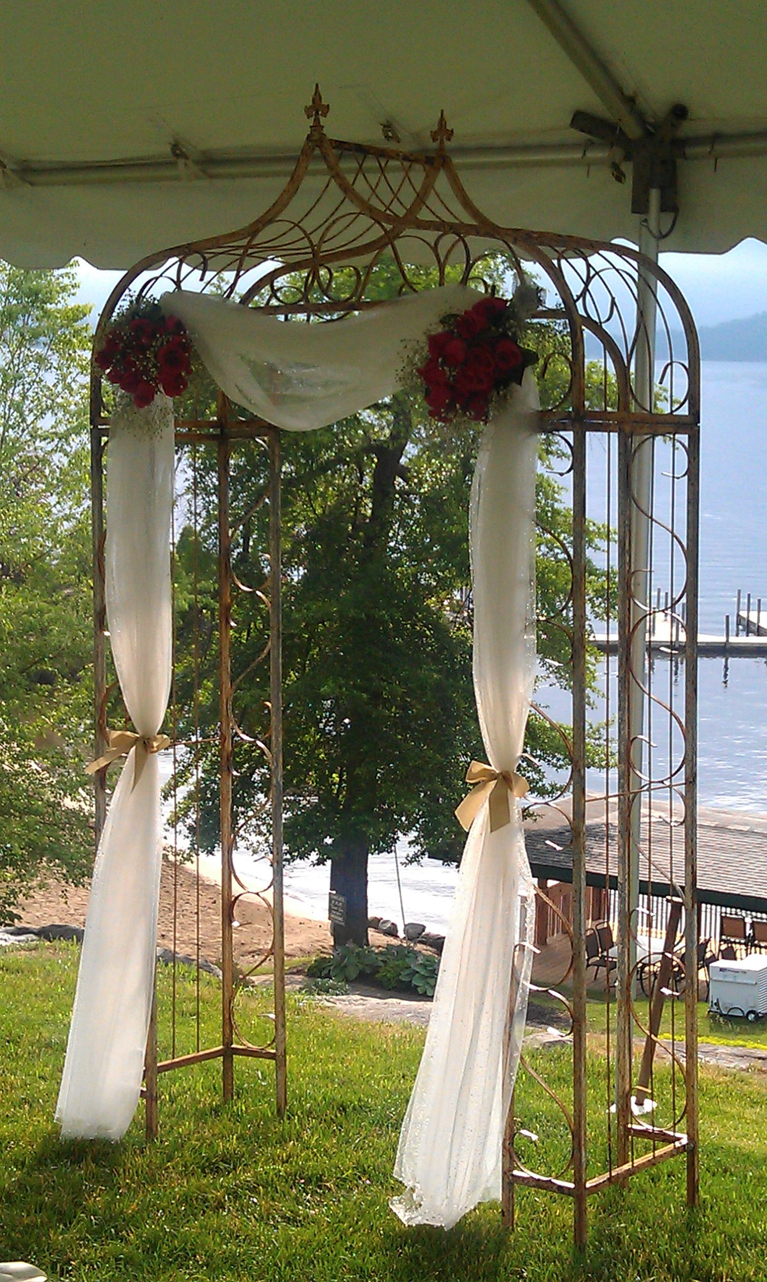 Vintage metal wedding arch | wedding arch | Pinterest | Metal ...