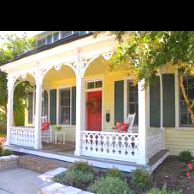 Blue Shutters Red Door Green Shutters White Exterior Houses