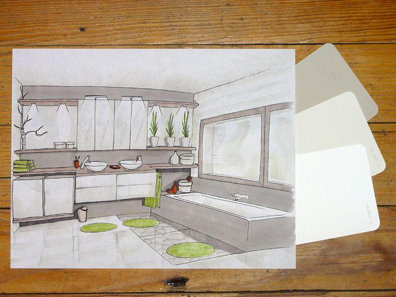 Natural bathroom bathroom designs and interiors - Croquis de salle de bain ...