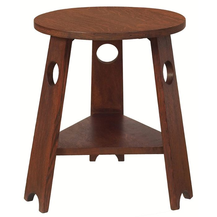 Three Brothers Bungalows: Stickley Brothers Tabouret, Circular Top Supported By