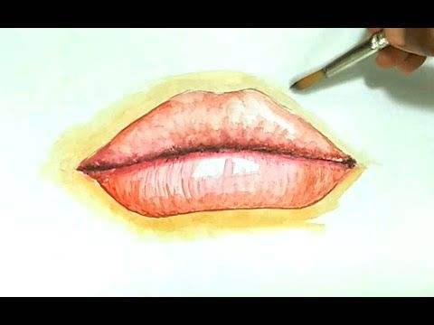 learn how to draw paint lips in this step by step drawing tutorial