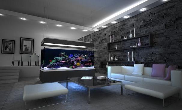 Hochwertig Moderne Aquarium Idées Salon Moderne Luxe