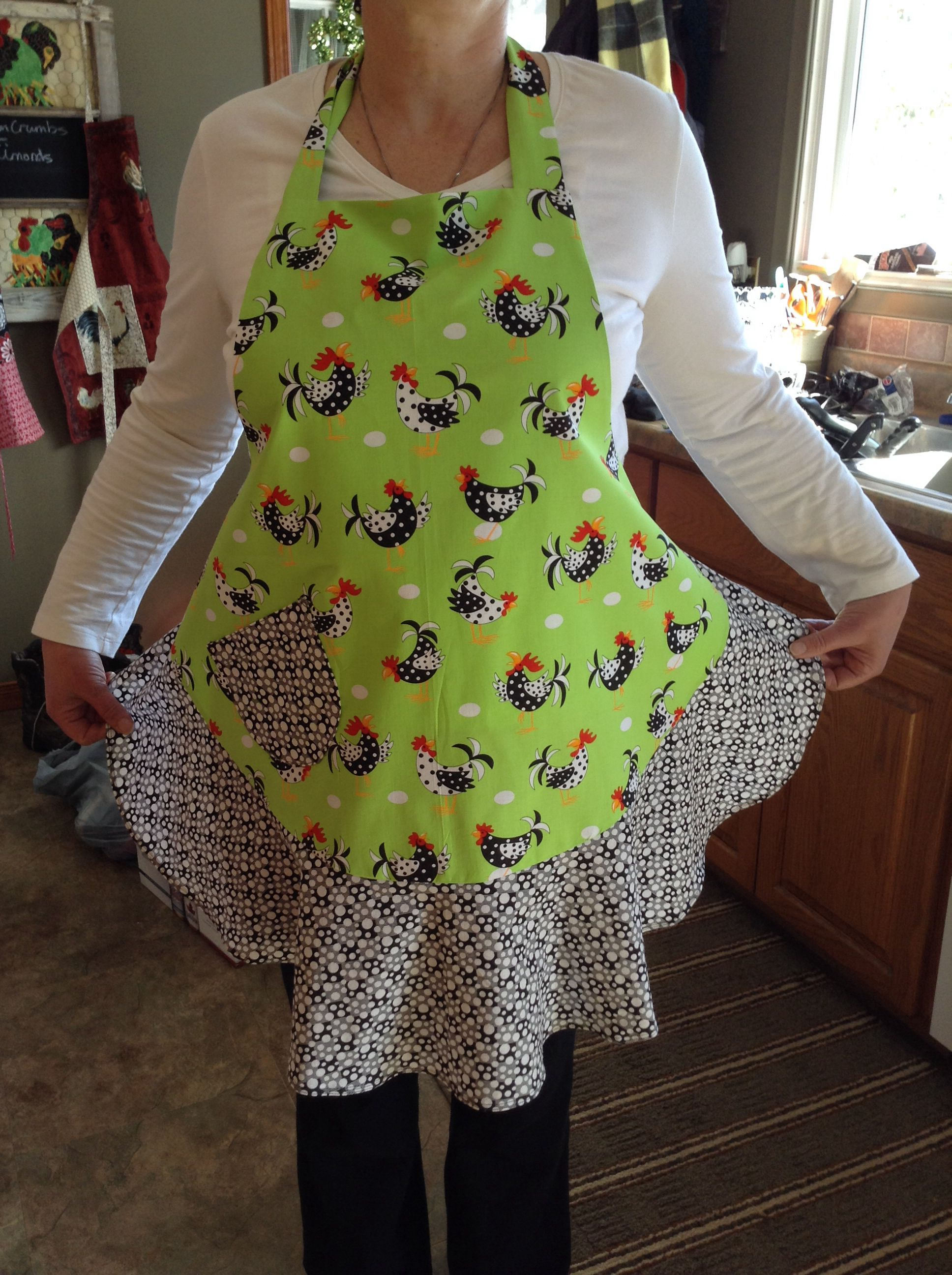 I made this apron from a KWIK sew pattern for a shower gift