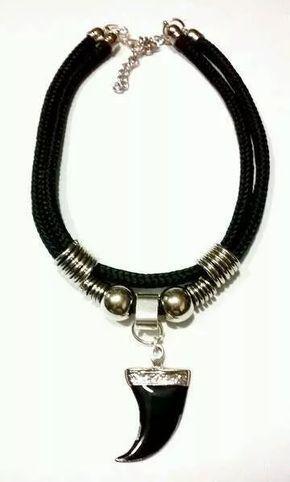 6147d4c96279 Collar Choker Moda Cordon Negro Ancho Dijes A Eleccion en Mercado Libre  Argentina