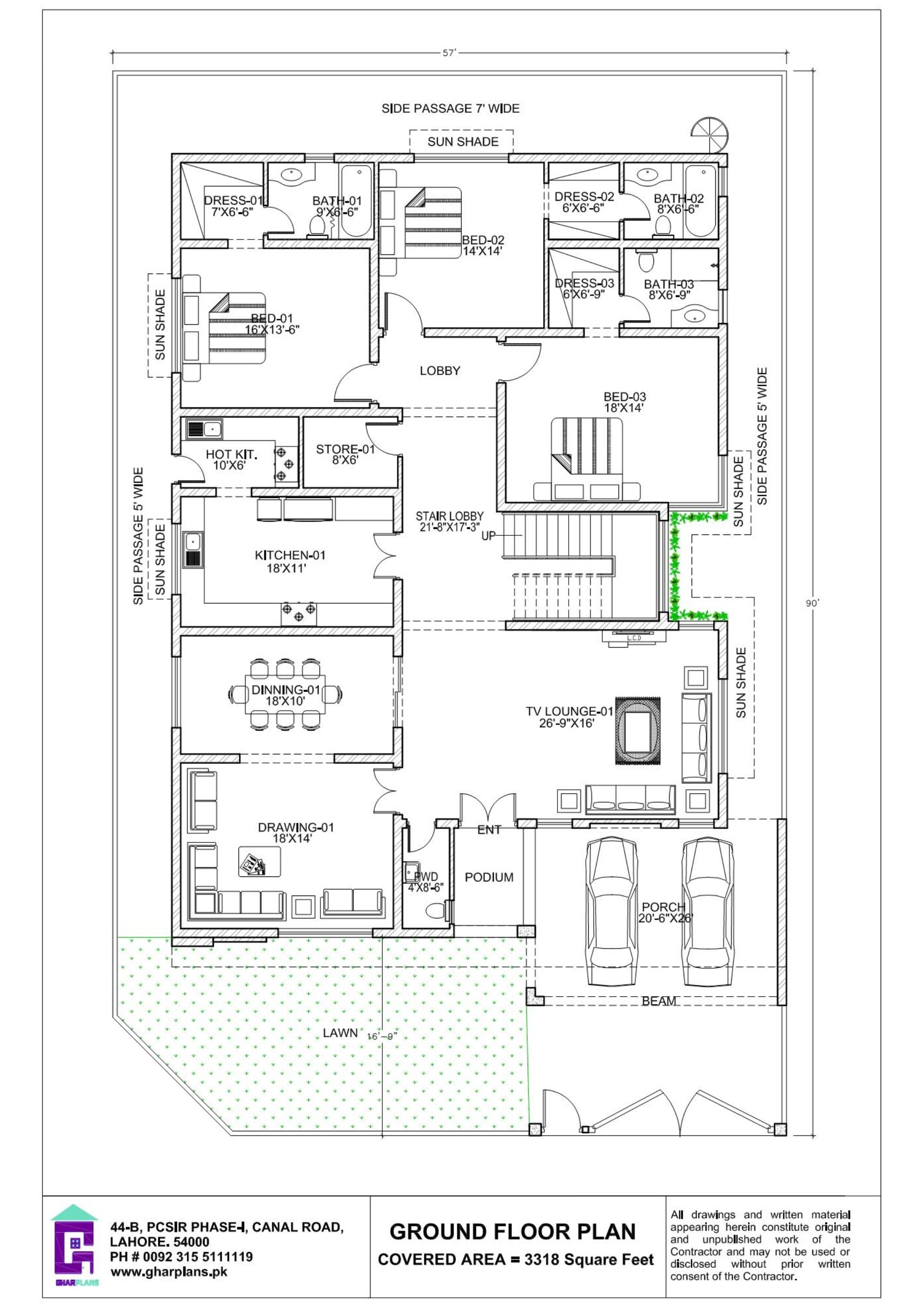 22 Marla House Design Ground Floor Plan House Layout Plans Model House Plan Ground Floor Plan