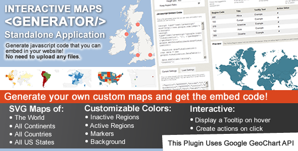 awesome Interactive Maps Generator Interactive map, Map