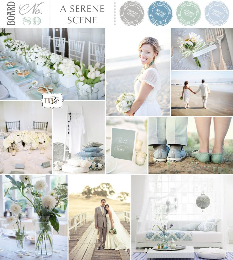 A Serene Scene - muted sage green and a range of warm greys and ...
