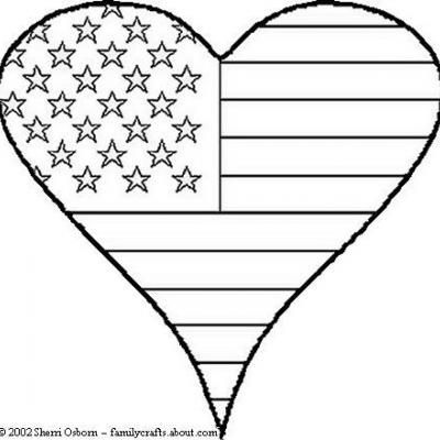 Patriot Heart Coloring Page COLORINGPAGES - new 4th of july coloring pages preschool