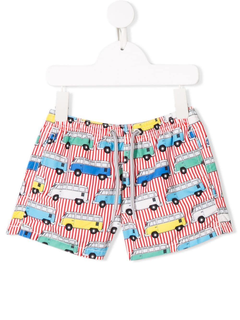 f1b25b345e Mc2 Saint Barth Kids van print swim shorts - Red in 2019 | Products ...