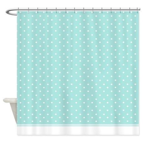 Mint Polka Dot Pattern Shower Curtain   Dot patterns, Shower ...