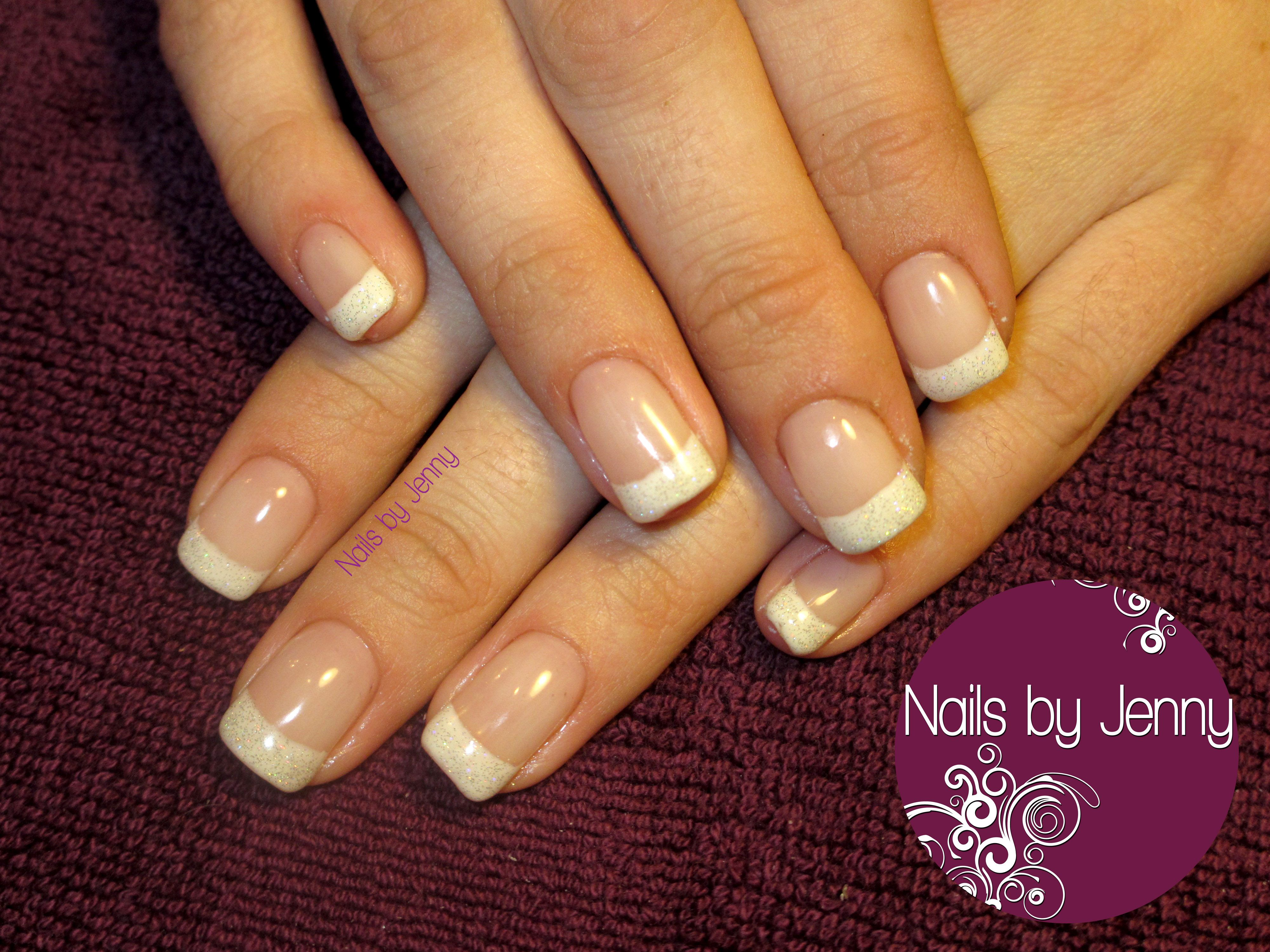 Gel Nails - French Glitter Tips | Nails by Jenny | Pinterest