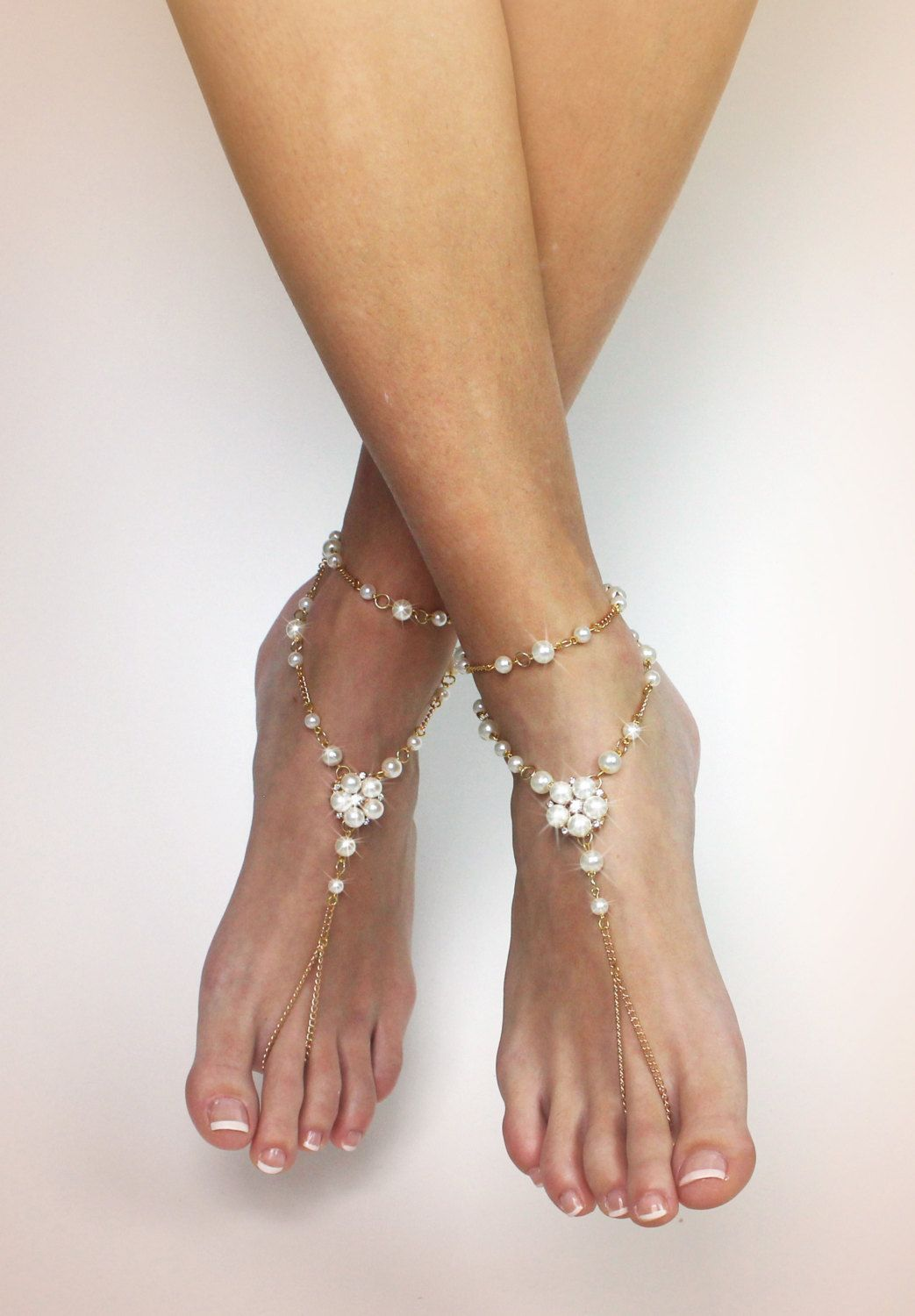 Gaia Barefoot Sandals Bridemaids Gift Anklet Gold Foot Jewelry Beach