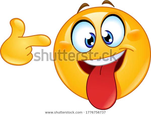 Crazy Face Emoji Emoticon Tongue Out Stock Vector Royalty Free 1776756737 Wtf Face Emoticon Emoji Design
